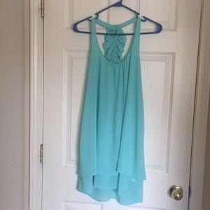 Mini blue dress, formal, wedding